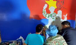 """Bất ngờ tranh kỷ niệm Quốc khánh 2-9 của Bệnh viện dã chiến """"mũ nồi xanh"""" Việt Nam tại Nam Sudan"""