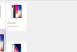 Giá iPhone X lao dốc không phanh