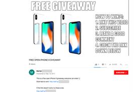 Nhiều người dính bẫy lừa trúng thưởng iPhone X