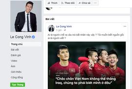 """Công Vinh truy tìm """"kẻ bất nhân"""" mạo danh trù ẻo U23 Việt Nam"""