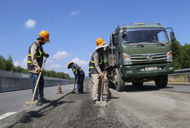 Cao tốc Đà Nẵng – Quảng Ngãi được sửa chữa ra sao?