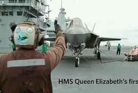 """Phi công Anh thực hiện cú """"hạ cánh xoay"""" lịch sử với F-35"""