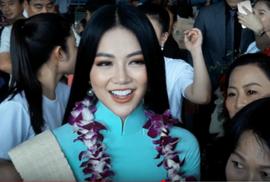 Hoa hậu Trái đất Phương Khánh rạng ngời ngày trở về Việt Nam