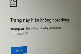 Website bán vé kiểu của VFF giá chưa tới 20 triệu đồng