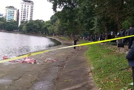 Người đàn ông chết nổi lập lờ trên hồ Thiền Quang dưới trời rét buốt 14 độ