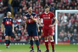 Xem Gerrard, Alonso tái xuất trong trận cầu 10 bàn thắng với Bayern