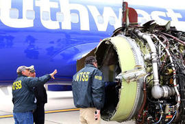 Máy bay Mỹ nổ động cơ: Cánh quạt bị gãy giữa không trung