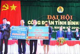 Ông Nguyễn Mạnh Hùng tái đắc cử chức Chủ tịch LĐLĐ tỉnh Bình Định