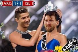 Ảnh chế World Cup: Ronaldo trao vương miện hoa hậu cho... Messi