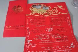 Độc chiêu lừa tiền bằng thiệp cưới ở Bình Thuận