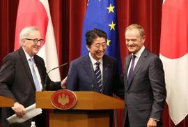 """Nhật - EU ký thỏa thuận thương mại """"khủng"""", đối trọng Mỹ"""