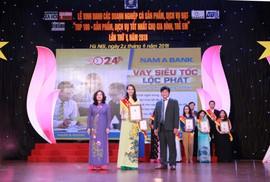 Nam A Bank được vinh danh với sản phẩm vì gia đình Việt