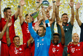 Chùm ảnh Bayern Munich giành chức vô địch Siêu cúp Đức