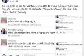 CĐV quá khích tranh cãi trên Facebook giả mạo HLV Park Hang Seo
