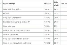 Điểm chuẩn xét học bạ ĐH Công nghiệp Thực phẩm cao nhất là 24,75