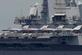 Tàu sân bay Trung Quốc bị chính máy bay nhà cản chân