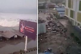 Động đất mạnh, sóng thần ập vào Indonesia