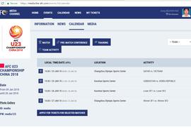 AFC đăng sai giờ, U23 Việt Nam đá bán kết lúc 15 giờ