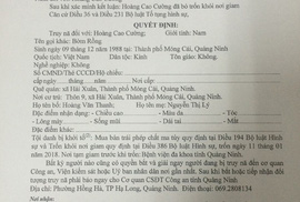 Truy nã 2 đối tượng ở Quảng Ninh trốn khỏi nơi giam giữ