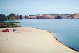 """Check in """"ốc đảo xanh giữa lòng sa mạc"""" đang gây sốt ở Bình Thuận"""