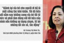 Nữ chủ tịch phường hứa từ chức nếu vỉa hè không thoáng lên tiếng