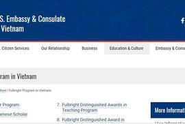 Chương trình Học giả Fulbright Việt Nam chọn ứng viên