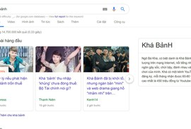 Khá Bảnh đứng đầu xu hướng tìm kiếm Google tuần qua