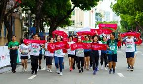 Dấu ấn AIA Việt Nam trên đường chạyVPBank Hanoi Marathon Asean 2020