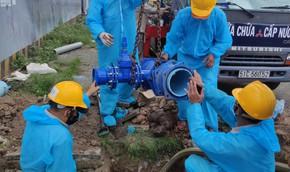 Cấp nước Tân Hòa: Hoàn thành gắn đồng hồ nước 100 ly cho Bệnh viện dã chiến số 11