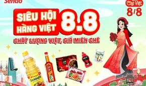Sendo ưu đãi khủng đến 50% cho hàng Việt thiết yếu