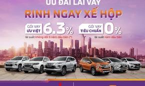 Mua xe Mitsubishi với lãi suất 0%/năm từ TPBank