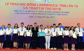 Quỹ Lawrence S. Ting trao 371 suất học bổng cho HS-SV xuất sắc