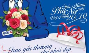 Trao yêu thương cho phái đẹp: BIDV dành hơn 10.000 quà tặng cực xinh