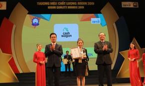 """Cashwagon lọt Top 10 """"Thương hiệu chất lượng ASEAN 2019"""""""
