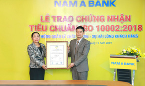 Nam A Bank đạt chứng nhận tiêu chuẩn ISO 10002:2018 về hệ thống quản lý chất lượng – sự hài lòng của khách hàng