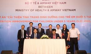 Bộ Y tế và Amway Việt Nam hợp tác cải thiện dinh dưỡng cho trẻ em dưới 5 tuổi
