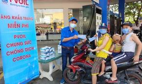 PVOIL tặng khẩu trang miễn phí để phòng chống dịch Corona