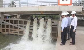EVNSPC tăng cường cấp điện, chung tay chống hạn mặn tại miền Tây Nam bộ