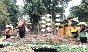 Khai mạc Hội Hoa Xuân Tân Sửu tại công viên Tao Đàn