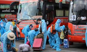 Thêm 700 người dân Phú Yên kẹt ở Bình Dương được đưa về quê