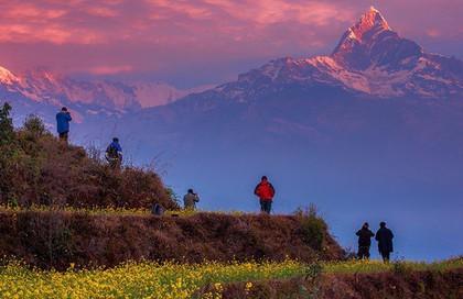 Đến Sarangkot ngắm bình minh trên dãy Himalaya