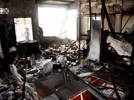 TP HCM: Lửa thiêu rụi khu tăng xá Tu viện Quảng Hương Già Lam