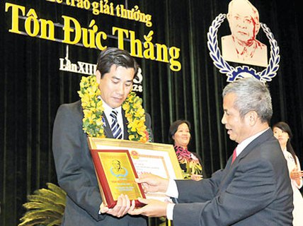 12 cá nhân đạt Giải thưởng Tôn Đức Thắng