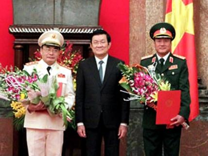 Có thêm 2 thượng tướng quân đội và công an