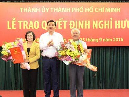 Trao quyết định nghỉ hưu cho nguyên lãnh đạo TP HCM