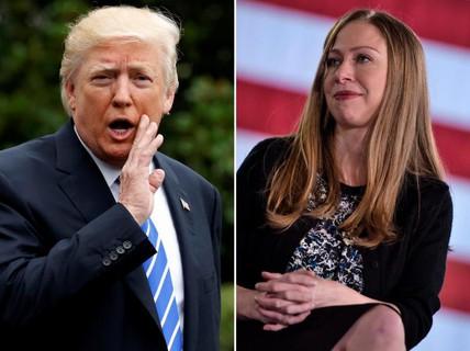 Vụ Ivanka thay cha dự họp: Ông Donald Trump và Chelsea Clinton đấu khẩu