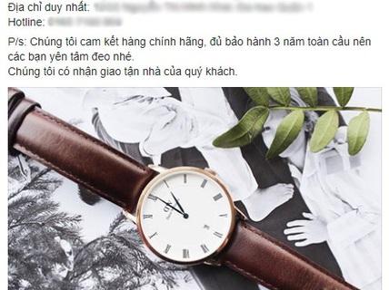 Bán đồng hồ, nước hoa bằng lòng thương trên Facebook