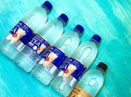 Nước lọc vị trà sữa xách tay giá 120.000 đồng/chai