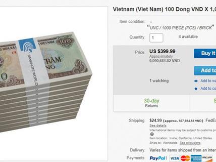 Muốn có tiền giấy 100 đồng phải chịu phí cao gấp hàng trăm lần