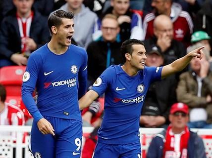 Morata lập hat-trick, Chelsea hạ đẹp Stoke